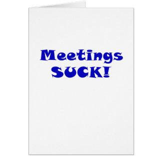 Meetings Suck Card