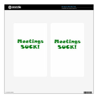 Meetings Suck Decal For Kindle Fire