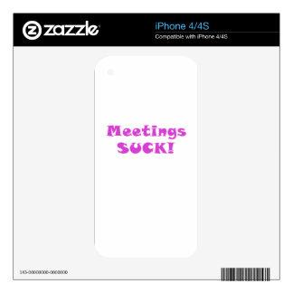 Meetings Suck iPhone 4S Decal