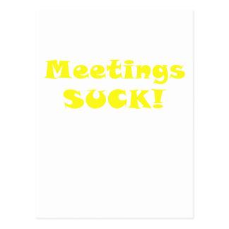 Meetings Suck Postcard