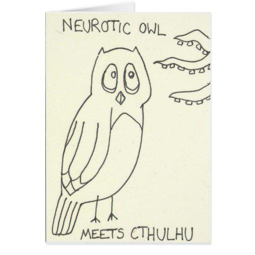 . . . Meets Cthulhu Greeting Card