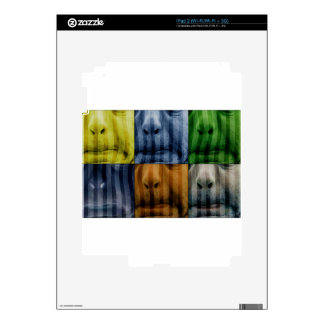 meets Vasarely II - Pig Brother Decal For iPad 2