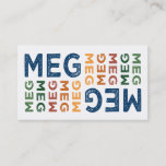 Meg Cute Colorful Business Card