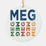 Meg Cute Colorful Ceramic Ornament