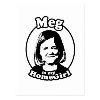 Meg is my homegirl postcard