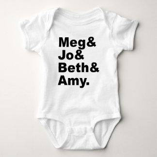 Meg & Jo & Beth & Amy | Little Women Literature Baby Bodysuit