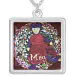 """Meg"" Rag Doll name pendant"