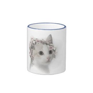 Meg the kitten ringer coffee mug
