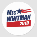 MEG WHITMAN 2010 CLASSIC ROUND STICKER