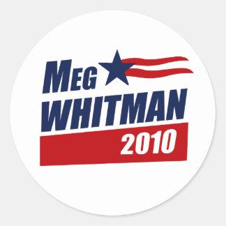 MEG WHITMAN 2010 CLASSIC ROUND STICKER
