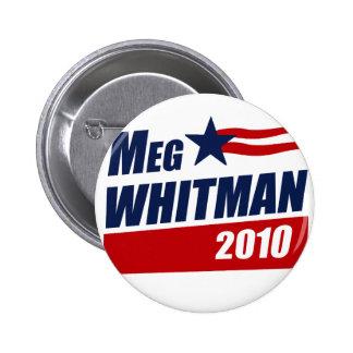 MEG WHITMAN 2010 PIN REDONDO DE 2 PULGADAS