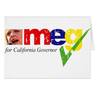 Meg Whitman for California Governor Card
