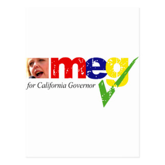 Meg Whitman for California Governor Postcard
