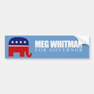 Meg Whitman for Governor 2010 Bumper Sticker