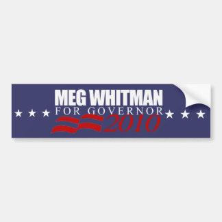 Meg Whitman for Governor 2010 Bumper Sticker