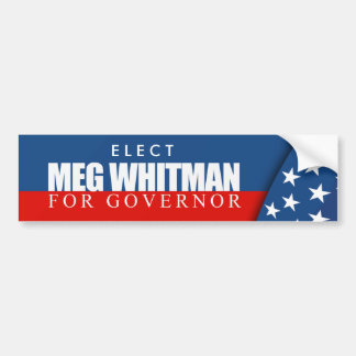 Meg Whitman for Governor 2010 Bumper Stickers