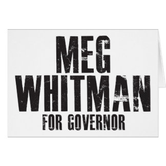 Meg Whitman For Governor 2010 Card