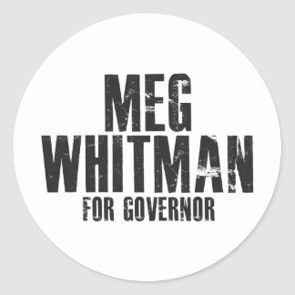 Meg Whitman For Governor 2010 Classic Round Sticker