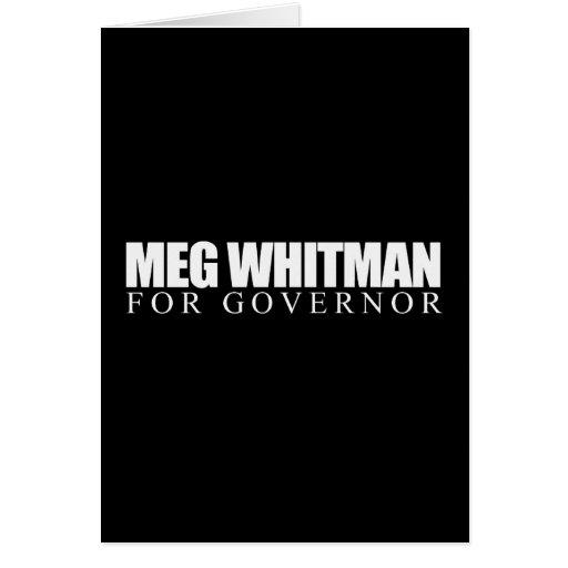 Meg Whitman for Governor 2010 Greeting Card