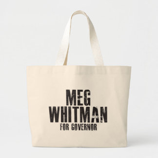Meg Whitman For Governor 2010 Large Tote Bag