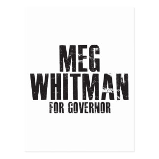 Meg Whitman For Governor 2010 Postcard