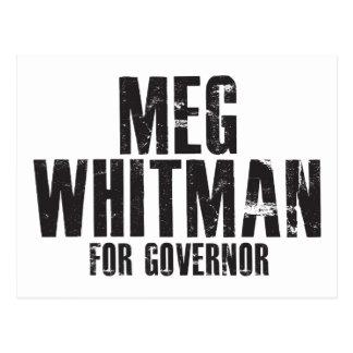 Meg Whitman For Governor 2010 Postcard