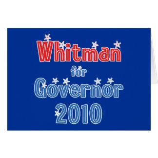 Meg Whitman for Governor 2010 Star Design Card