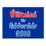 Meg Whitman for Governor 2010 Star Design Postcard