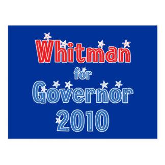 Meg Whitman for Governor 2010 Star Design Postcard