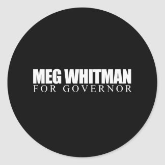 Meg Whitman for Governor 2010 Stickers