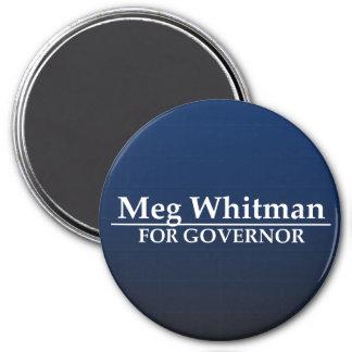 Meg Whitman for Governor 3 Inch Round Magnet