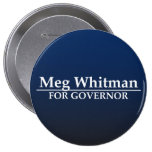 Meg Whitman for Governor 4 Inch Round Button