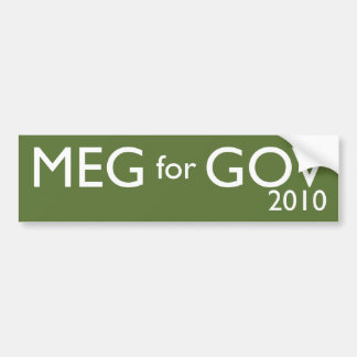 Meg Whitman For Governor Bumper Stickers