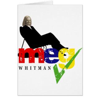 Meg Whitman for Governor Card