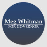 Meg Whitman for Governor Classic Round Sticker