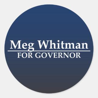 Meg Whitman for Governor Classic Round Sticker