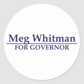 Meg Whitman for Governor Round Stickers