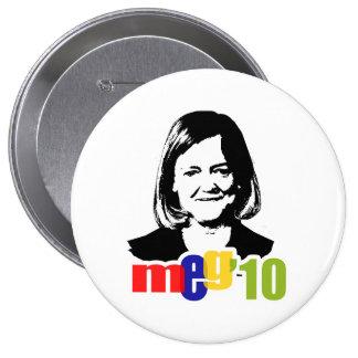 Meg Whitman para el gobernador 2010 Pin Redondo De 4 Pulgadas