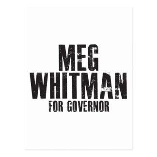 Meg Whitman para el gobernador 2010 Postales