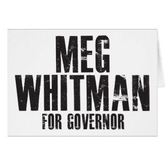Meg Whitman para el gobernador 2010 Tarjeta De Felicitación