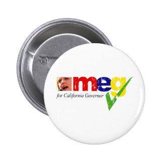 Meg Whitman para el gobernador de California Pin