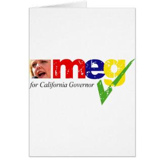 Meg Whitman para el gobernador de California Tarjeta De Felicitación