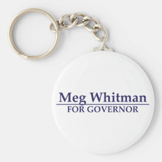 Meg Whitman para el gobernador Llavero Redondo Tipo Pin