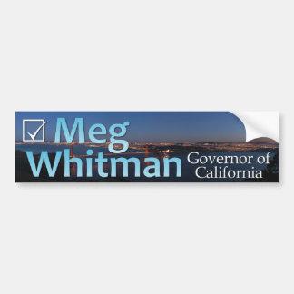 Meg Whitman para el gobernador - pegatina para el  Pegatina Para Auto