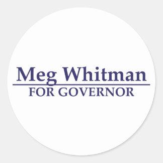 Meg Whitman para el gobernador Pegatina Redonda