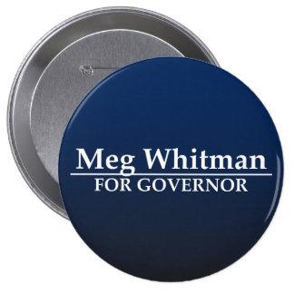 Meg Whitman para el gobernador Pin Redondo 10 Cm