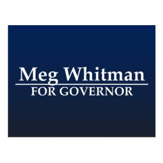 Meg Whitman para el gobernador Postales