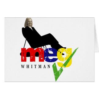 Meg Whitman para el gobernador Tarjeta De Felicitación