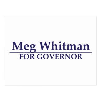 Meg Whitman para el gobernador Tarjetas Postales