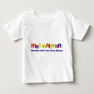 Meg Whitman - She's Not Jerry Brown Baby T-Shirt